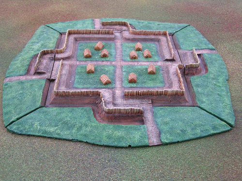 6mm scale resin roman marching fort