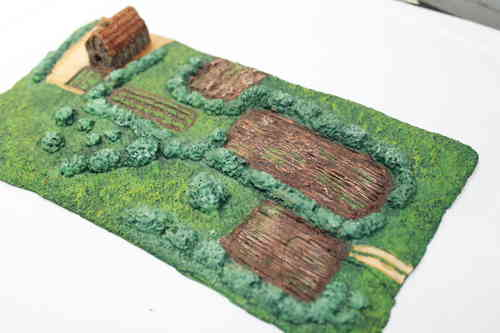 6mm scale resin Saxon farmstead