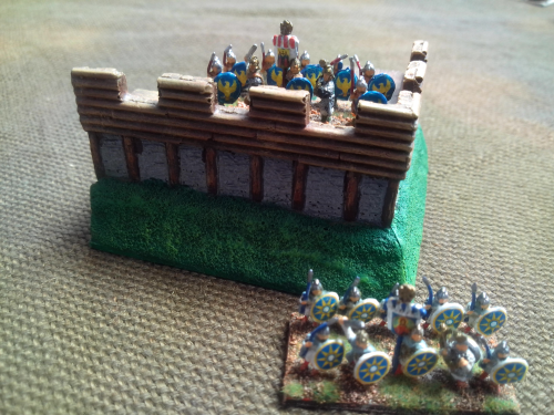 10mm Sub Roman Fort corner section