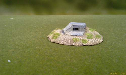 6mm  Garage and crew bunker for 50mm AT gun with firing position