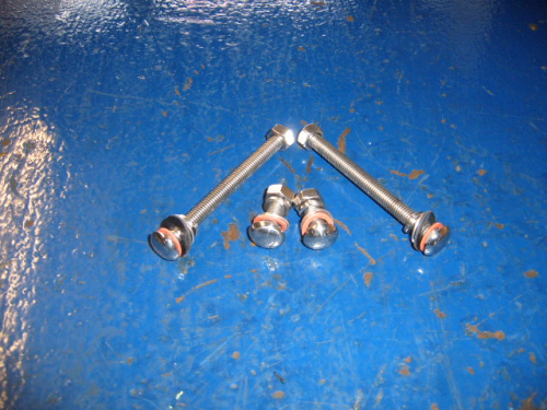Escort Mk1 stainless steel rear bumper bolts