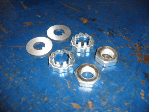 Hub nuts, washers & hub cages
