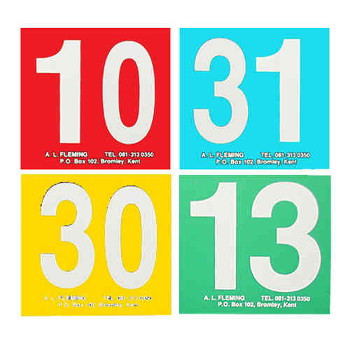 Table Numbers - Numbered 16-30