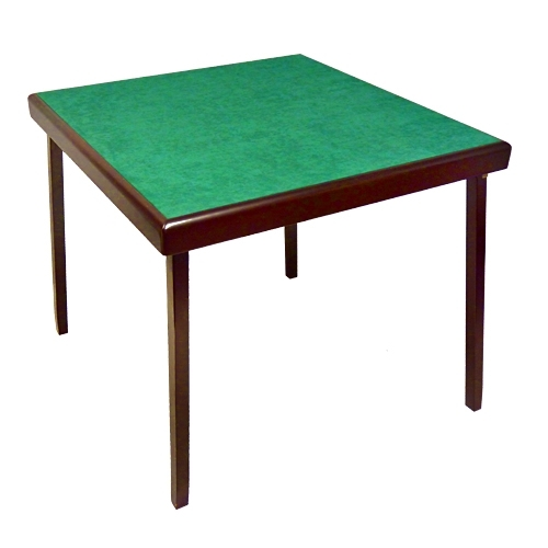 "CARD TABLE - ""ELEGANT"" - Microfibre Top Covering"