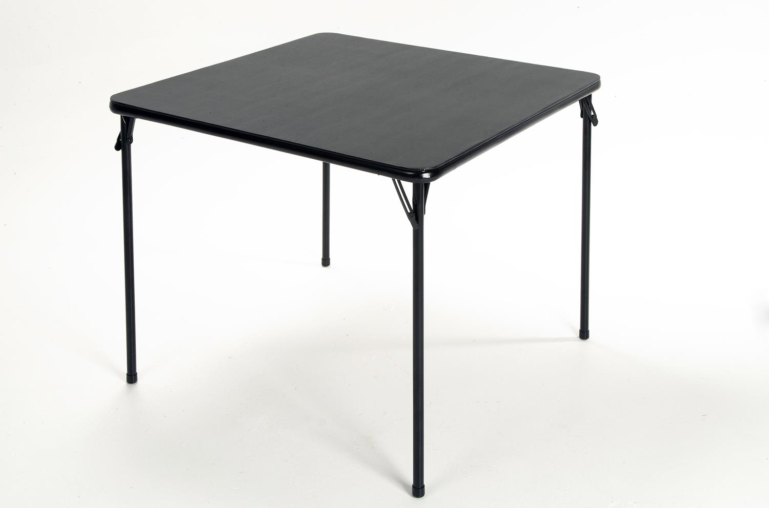 "PAIR OF ""CLUB"" BLACK CARD TABLES"