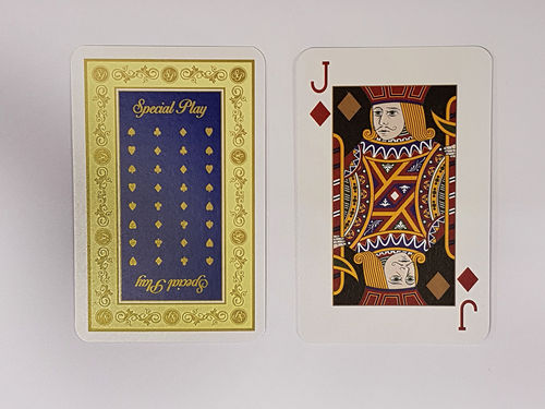 """Special Play"" Playing Cards - Blue"