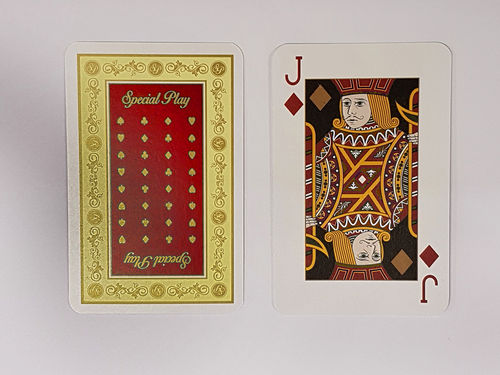 """Special Play"" Playing Cards - Red_Cellophane"