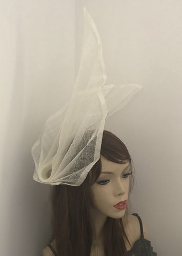Ivory Fan Fascinator Hat