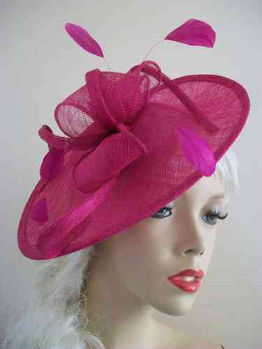 Fuchsia / Hot Pink Wedding Hat