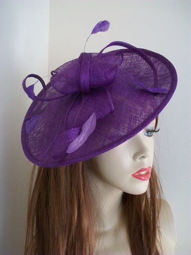 Purple Formal Ladies Hat