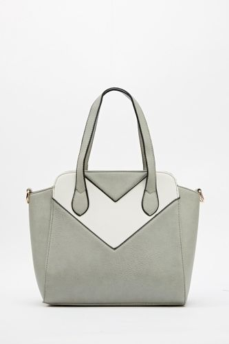Grey White Block Colour Handbag