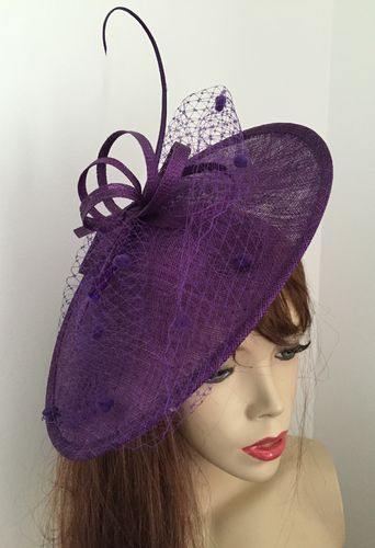 Cadbury Purple fascinator