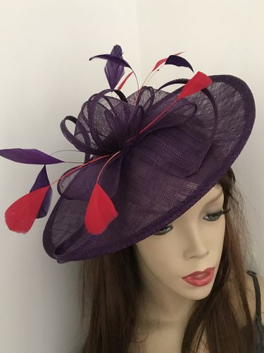 Purple Red Formal Ladies Hat