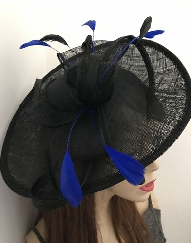 Black Blue Wedding Hat