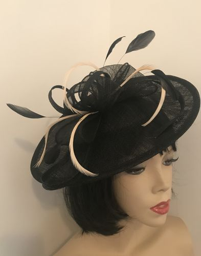 Black Nude Wedding Hat