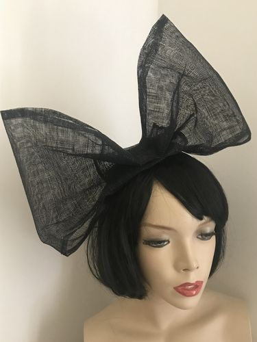Black Big Bow Fascinator