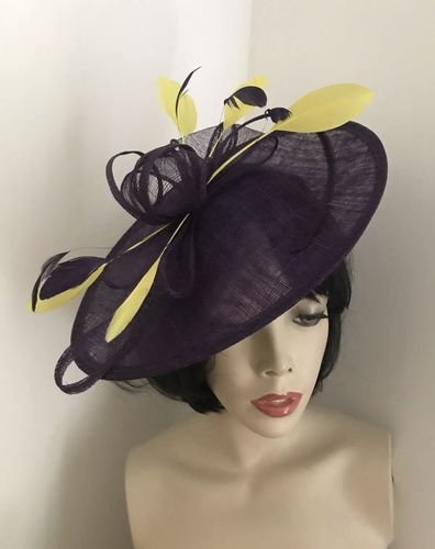 Purple Yellow Formal Ladies Hat