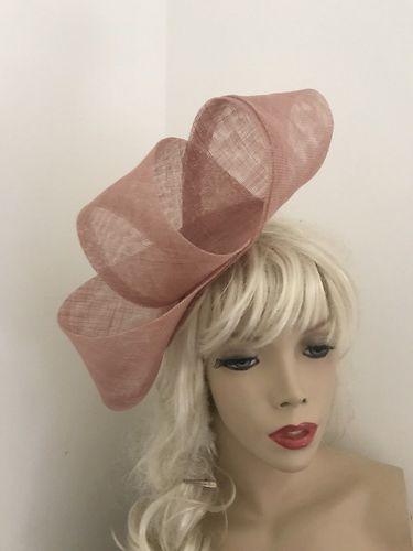 Nude Blush Big Twist Fascinator Hat