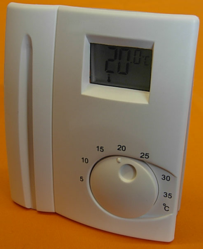 16 AMP 240v ELECTRONIC ROOM THERMOSTAT WITH LCD