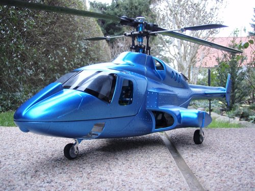 Bell 222 / Airwolf /metallic Blau inkl.450er Mechanik -RTF- mit Sender