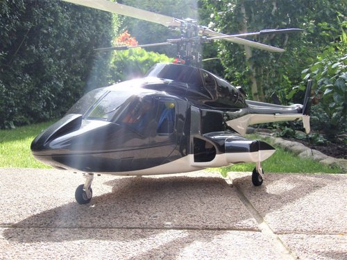 Airwolf / Bell 222 / inkl. 500er Mechanik -RTF- mit Sender