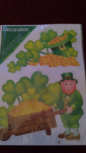 St. Patrick`s Day Fenster Sticker