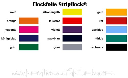 Flock-Folie Siser Stripflock