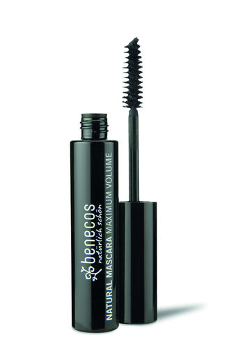 benecos NATURAL MASCARA MAXIMUM VOLUME deep black, zertifizierte Naturkosmetik (BDIH)