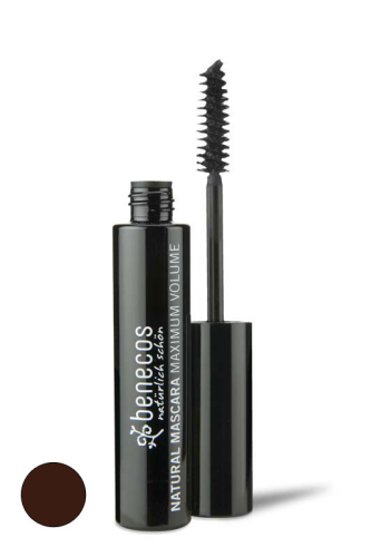benecos NATURAL MASCARA MAXIMUM VOLUME smooth brown, zertifizierte Naturkosmetik (BDIH)