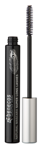 benecos NATURAL MASCARA SUPER LONG LASHES carbon black, zertifizierte Naturkosmetik (BDIH)