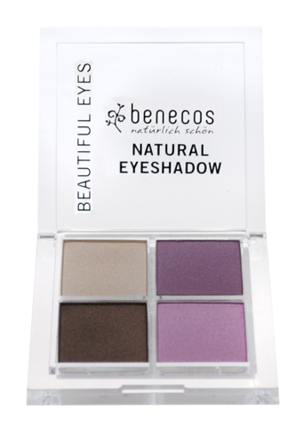 benecos NATURAL QUATTRO EYESHADOW beautiful eyes, zertifizierte Naturkosmetik (BDIH)