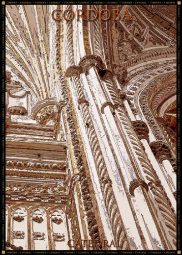 Poster Catedral. Columnas