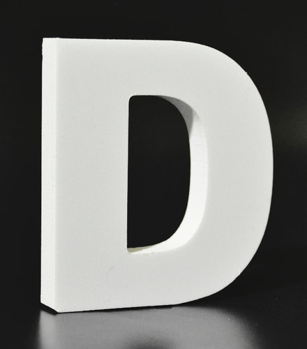 Letras Decorativas Rectas PVC | D