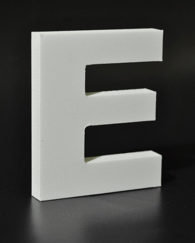 Letras Decorativas Rectas PVC | E
