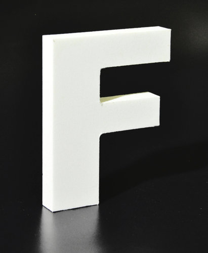 Letras Decorativas Rectas PVC | F
