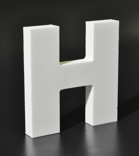 Letras Decorativas Rectas PVC | H