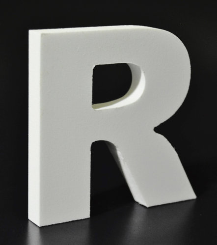 Letras Decorativas Rectas PVC | R