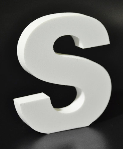 Letras Decorativas Rectas PVC | S