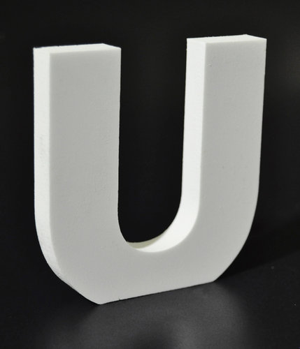 Letras Decorativas Rectas PVC | U