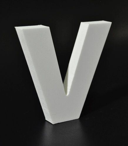Letras Decorativas Rectas PVC | V
