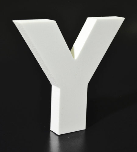 Letras Decorativas Rectas PVC | Y