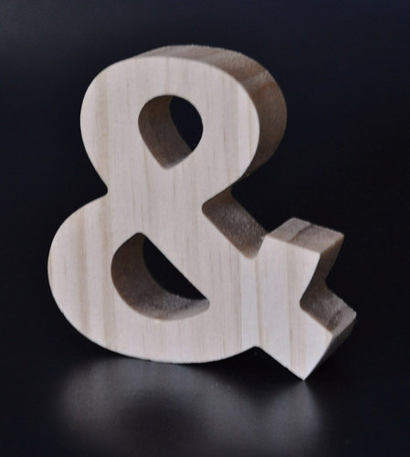 Letras Decorativas Rectas Madera | &