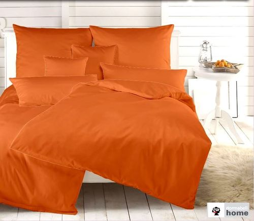 Dormabell Uni Satin Bettwäsche orange
