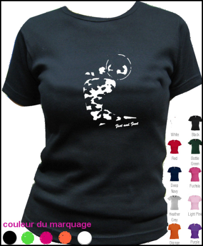 "T-SHIRT FEMME COL ROND ""CAMOUFLAGE"""