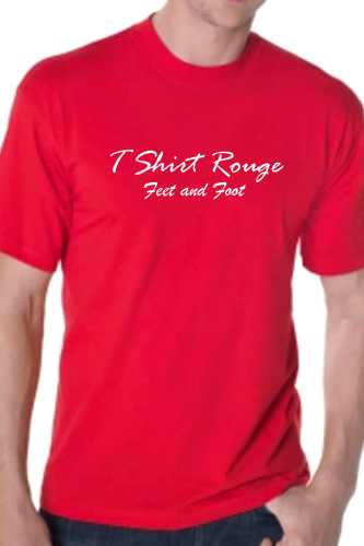 "T SHIRT HOMME ""Feet and Foot"" LE T SHIRT ROUGE"