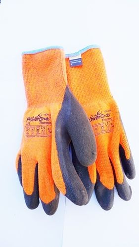 Qualitäts-Handschuh POWER GRAB THERMO (orange) Gr. 9