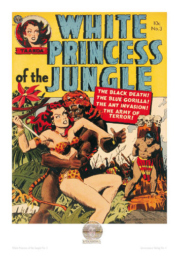 White Princess of the Jungle Nr. 3 - Poster A4