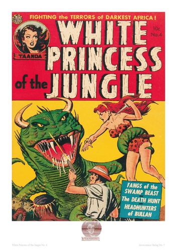 White Princess of the Jungle Nr. 4 - Poster A4