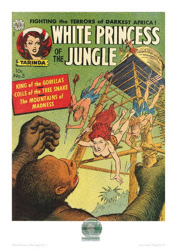 White Princess of the Jungle Nr. 5 - Poster A4