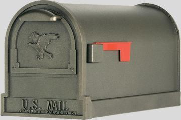 Original US-Mailbox Arlington, lackiert in bronzefarben